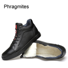 Phragmites Black Adult Students Sneakers Cow Leather Winter Shoes Men Free Shipping Sale Bot Fashion Plus Size Winter Boots цены