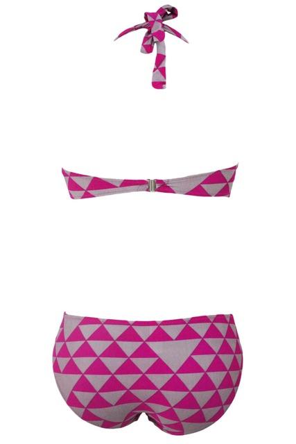 FIYOTE 2017 Biquini Black White Geometric Pattern Triangular Bikini LC41254 New Women Sexy Bikinis Set Bathing Suit Swim suit