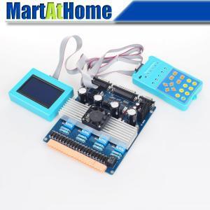 Intelligent CNC 3rd Generation 4 Axis TB6600 Stepper Driver Kit w/ LCD & Remote Keypad #SM665 #SD intelligent cnc 4 axis tb6600 stepper motor driver board 5a adjustable dc 12 48v power supply sm578 sd