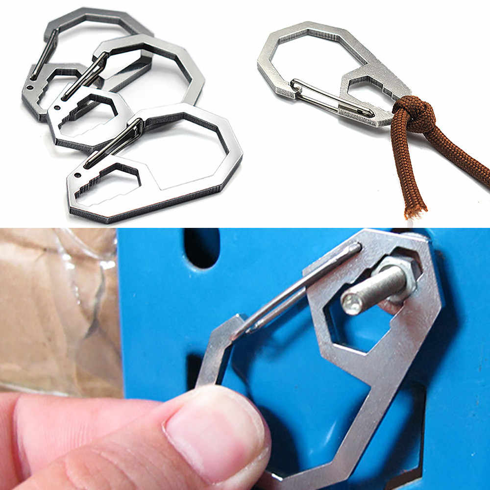 2018 1XCarabiner Suspension Clip Hook with Keyring Outdoor Hiking Buckle NEUE