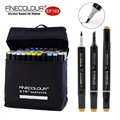 Finecolour Alcohol Based Brush Markers EF102 Soft Ultra Fine Pens 12/24/36/60/72 Colors Student Set Double Headed Sketch Marker