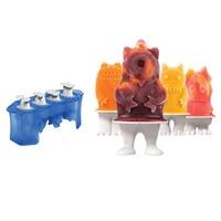 3d Cartoon Stick Ice Mold Food Grade Silicone Creative Children Cute Diy Homemade Household Ice Cream Model