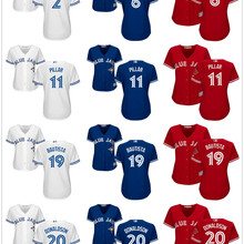 1cbed8a26 Majestic Toronto Blue Jays Troy Tulowitzki Marcus Stroman Kevin Pillar Jose  Bautista Josh Donaldson Russell Martin women Jerseys