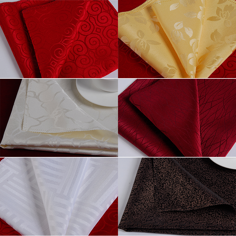 multi color 100 polyester cloth napkin wedding napkins christmas napkin damask luxurious napkin cloth 4848cm in table napkins from home garden on - Christmas Napkins Cloth