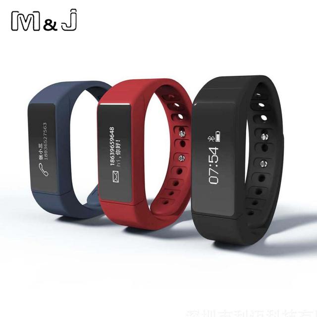 M & J Pantalla Táctil i5 Más Inteligente Muñequera Pulsera Bluetooth Impermeable Smartband Banda Inteligente Monitor de Sueño