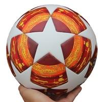 Red Madrid 19 Final Balls 2018 2019 Champions League Soccer Ball PU high quality seamless paste skin football ball Size 5