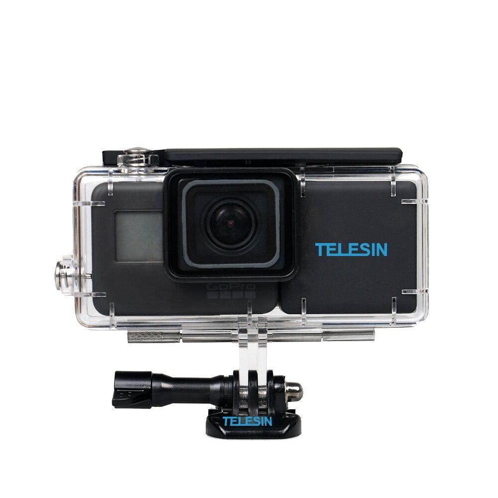 TELESIN 2300 mah Étendu BacPac Batterie Batteries De Secours Remplacement + Boîtier Étanche Logement pour GoPro Hero 6 pour GoPro Hero 5