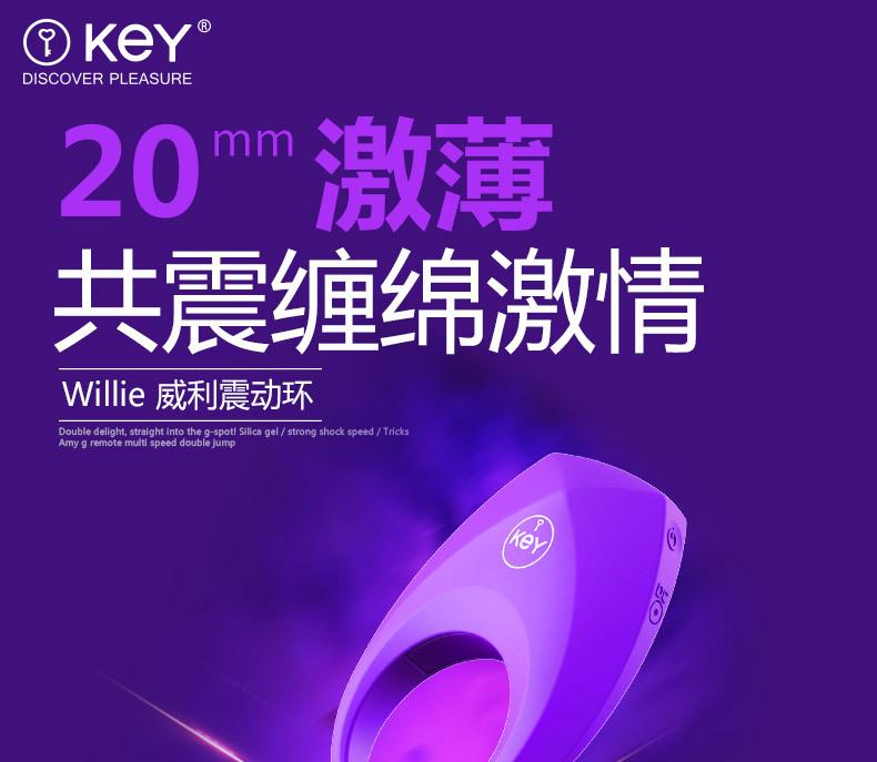 KEY Male Penis Ring Vibration Delay Penis Ring USB charging Sex toys for Men 1