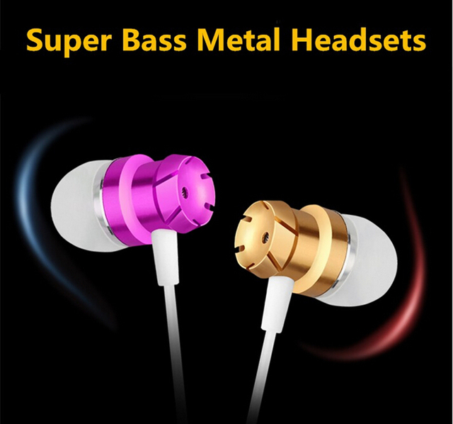 MoreBlue EM3 Turbo Design Earphones Metal Earbuds Stereo Earpieces Super Bass Headset Sport Running Headphones With Mic