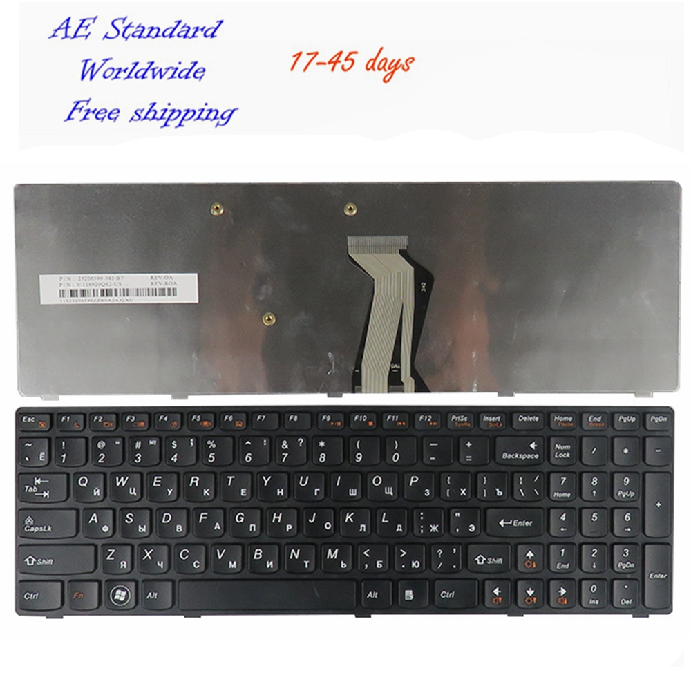 Ru Laptop Keyboard For Lenovo Y500 Y510P Y500N Y500NT Black New Russian new us laptop keyboard for lenovo y590 y500 y510p english keyboard blacklight