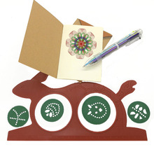 Novelty DIY Spirograph Magic Drawing Board Tools for Kids Educational Toy with 1Pcs 6 colour Pen