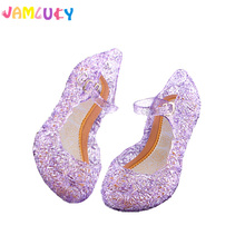 Children Sandals Shoes Girl Summer Autumn Jelly Princess Dress Up Cosplay Kids Shoes Stage Dancing Show Crystal Sandals Shoes