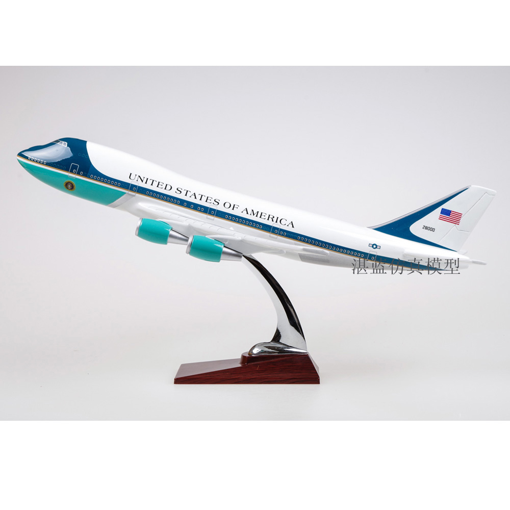 47Cm Boeing 747 Resin Static Model Air Force One Plane Model Simulation Toys Gift Collection new phoenix 11207 b777 300er pk gii 1 400 skyteam aviation indonesia commercial jetliners plane model hobby