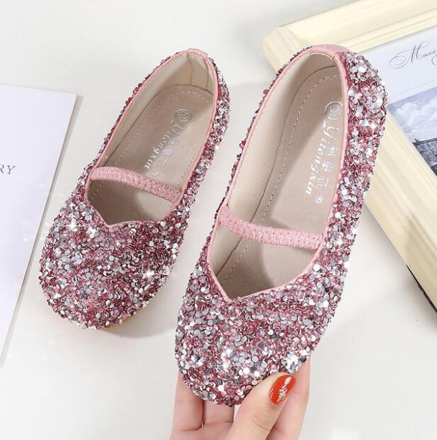 Gewissenhaft Leder Schuhe Für Kinder Herbst Mode Pailletten Strass Kinder Schuhe Für Mädchen Leder Feste Beiläufige Hübsche Mädchen Schuhe Bequem Und Einfach Zu Tragen