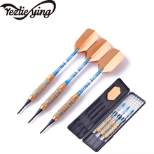New Yezlieying 3 pieces / set of professional darts 18 grams yellow soft tip aluminum blue