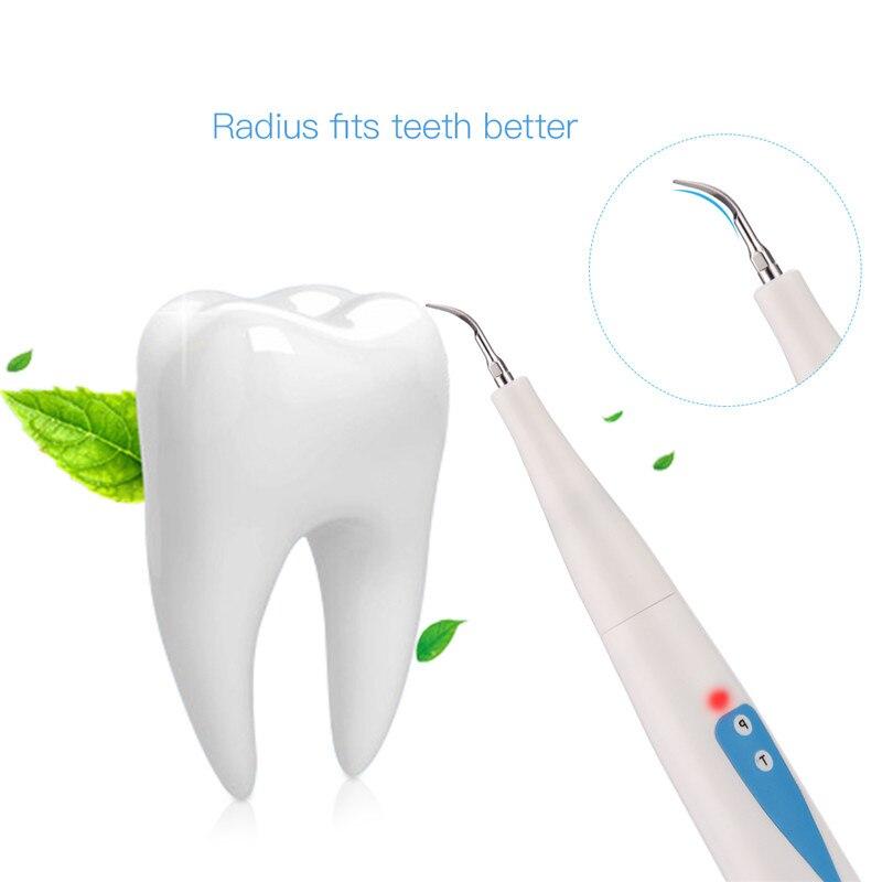 Elektryczny Sonic skaler dentystyczny zębów Calculus Remover przewodowy plamy zębów usuwanie kamienia nazębnego narzędzie do czyszczenia zębów z usta lustro 31 w Irygatory do jamy ustnej od AGD na  Grupa 3