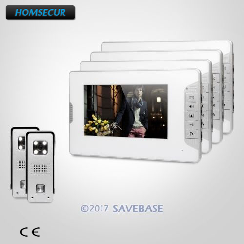 HOMSECUR 7inch Video Door Intercom System + CMOS Camera With Quality Night-Vision with Color Images