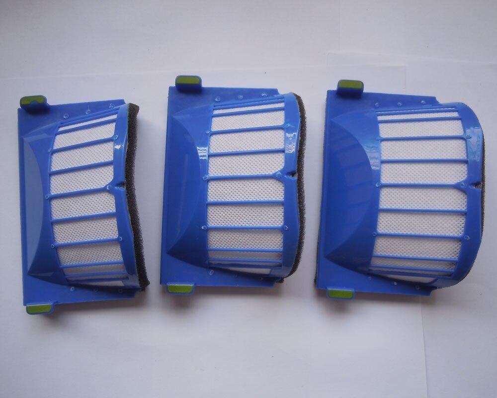 100 pieces AeroVac Blue Filter for iRobot Roomba 500 550 551 552 Vacuum Cleaner Drop shipping samsung rs 552 nruasl