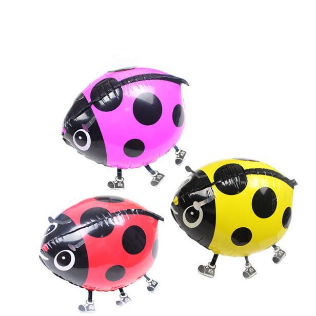 1 pcs large ladybug pet walking animals helium mylar balloons baby shower kids gift party decoration