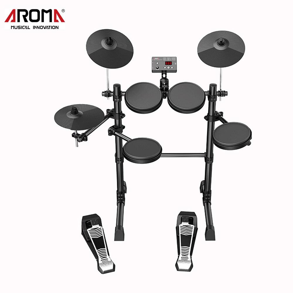 Kit de batterie électronique AROMA TDX-15 Instruments de musique à Percussion métronome intégré 12 kits de batterie assemblage facile du son