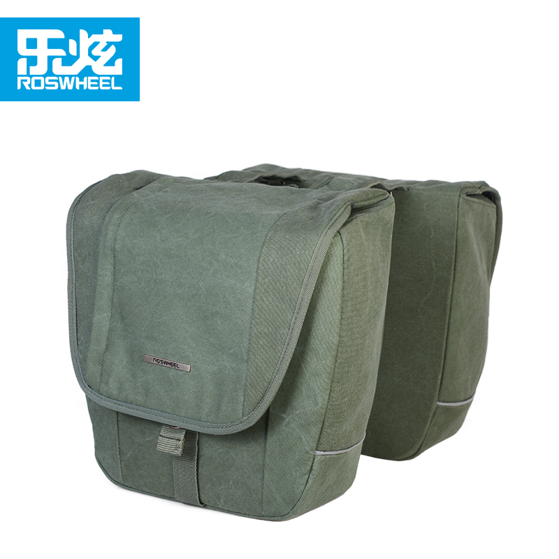 Roswheel 20L canvas bike trunk bag bicycle accessories cycling bag bycicle bags city Retro style roswheel 12893 bike frame bag