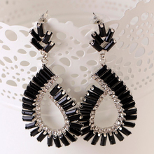 Women Party indian jewelry Black temptation nightclub popular female black square resin earrings