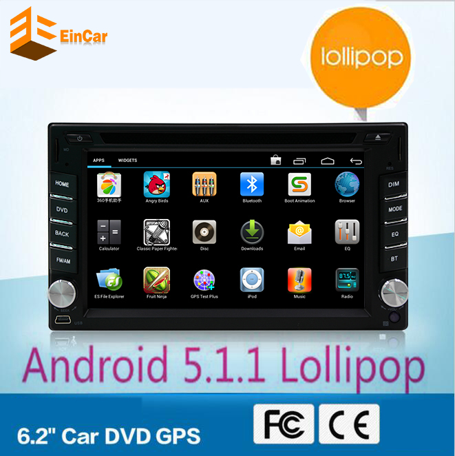 Android 5 1 Quad Core in dash 2 Din font b Car b font dvd gps