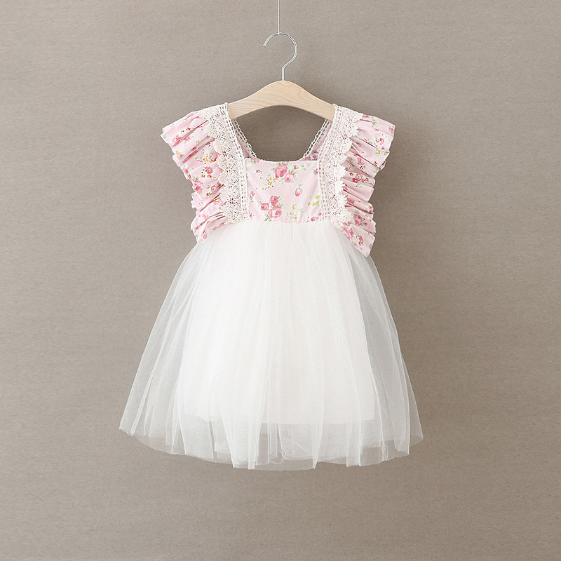 Girls Wedding Dress Kids Floral Summer Princess Party Dresses Elegant Cute Flower Fairy Dress Childrens Belle Clothing summer 2017 new girl dress baby princess dresses flower girls dresses for party and wedding kids children clothing 4 6 8 10 year