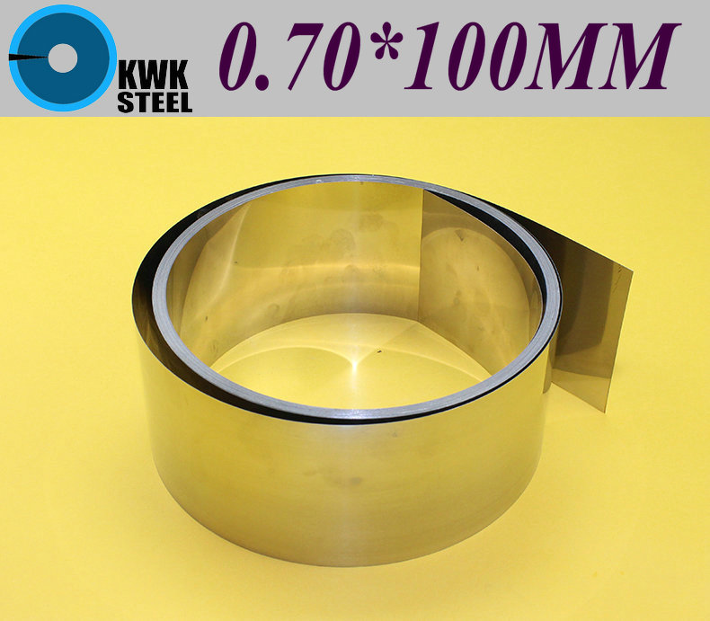 ФОТО Stainless SUS304 Steel Strips 0.70*100*1000mm in Coil for Molds Distance Washer High Precision Parts Coiled Silicon Steel Sheet