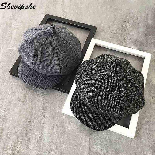Shevipshe Cosplay Beret Detective Sherlock Holmes Deerstalker Hat Men Women  Berets Cap Peaked Caps Casquette Chapeau Feminino e516ac59ec9e