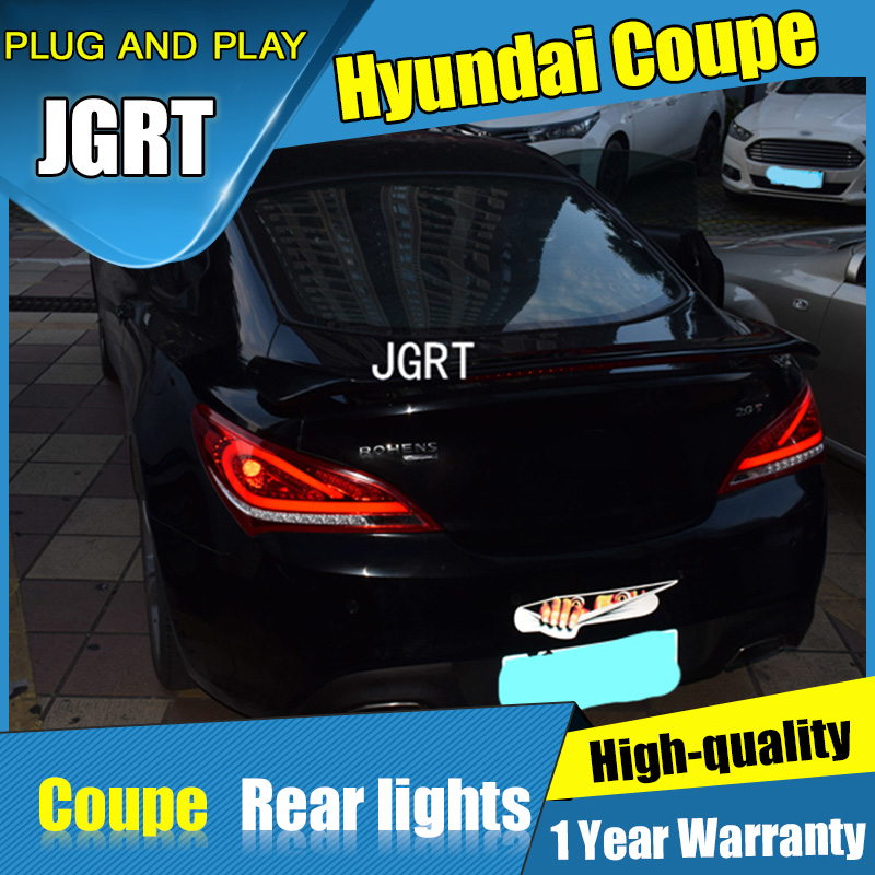 JGRT Car Styling for Hyundai Coupe  Tail Lights 2009-2012 for Coupe  LED Tail Lamp+Turn Signal+Brake+Reverse LED light