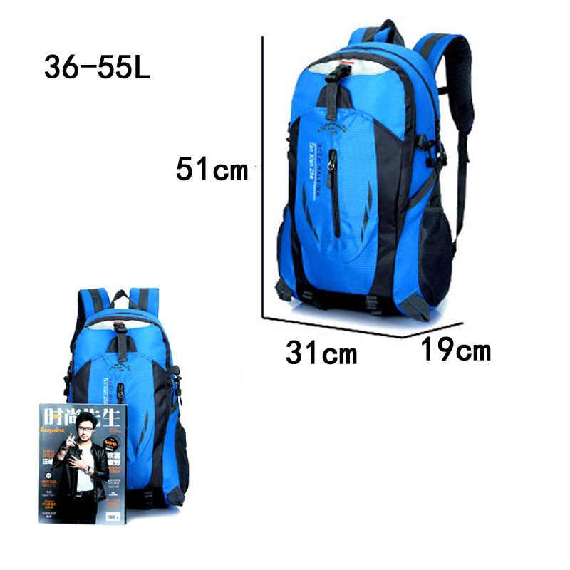 ff00bef913dc 40L Outdoor Backpack Trekking Climbing Hiking Sports Backpacks Traveling  Camping Bags Waterproof Bicycle Bag Men Women Sport Bag