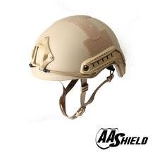 AA Shield Ballistic ACH High Cut Tactical Helmet Bulletproof Body Armor Aramid Core Helmet Safety Helmet NIJ IIIA 3A TAN