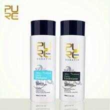 Очищающий шампунь и Кондиционер 100 мл наборы для ухода за волосами Профессиональное использование для лечения волос кераетин делает волосы разглаживающими и сияющими
