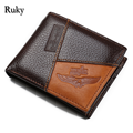 Retro Men Genuine leather Wallets Male Fashion Card Holders Wallet New Designed high quality luxury designer clutch mini Purse