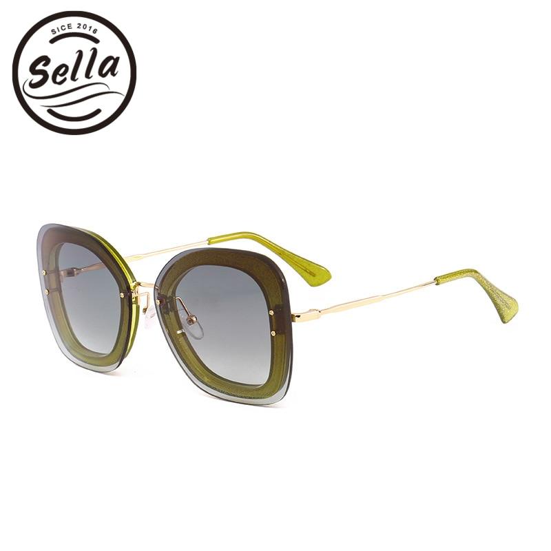New Fashion Women Square Sunglasses Luxury Brand Designer Retro Classic Oversized Rimless Elegant Ladies Sun Glasses Eyewear