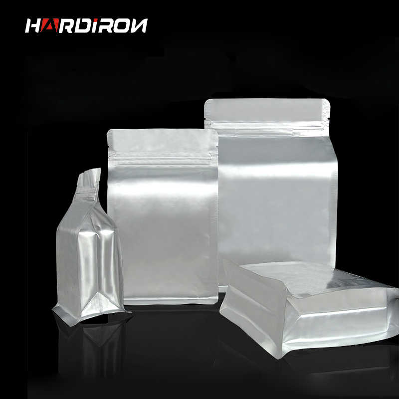 Thick Silver Aluminum Foil Octagonal Standing Ziplock Bag Rectangular Plastic Food Tea Storage Heat Sealing Packaging Bag