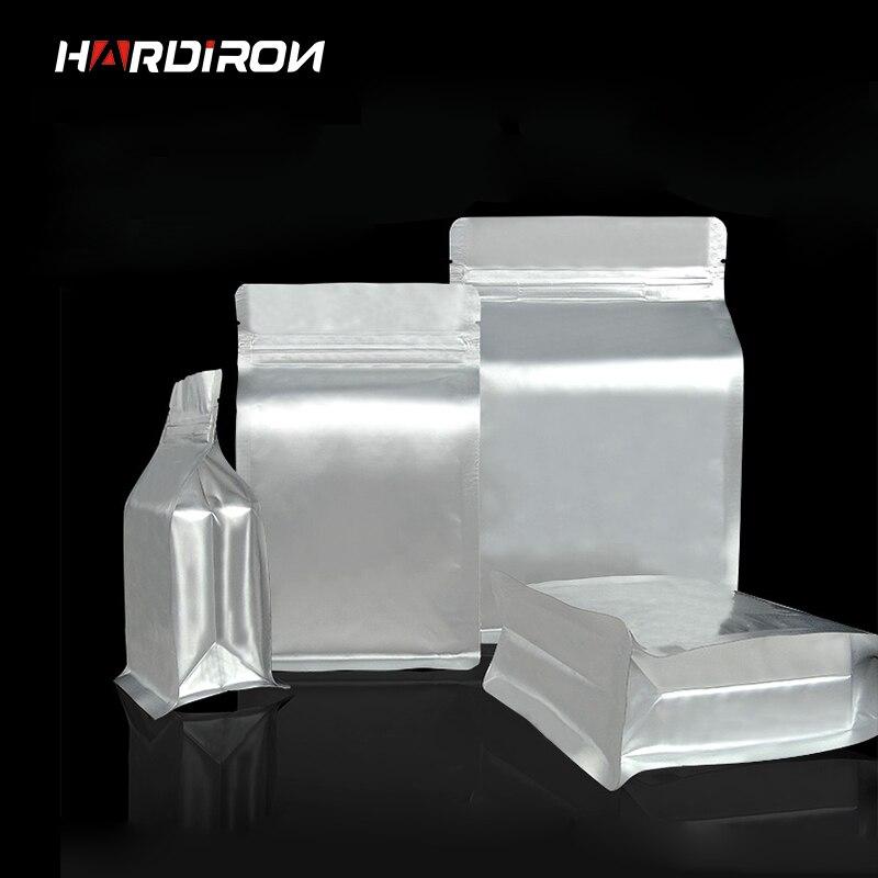 Genial Thick Silver Aluminum Foil Octagonal Standing Ziplock Bag Rectangular  Plastic Food Tea Storage Heat Sealing Packaging Bag