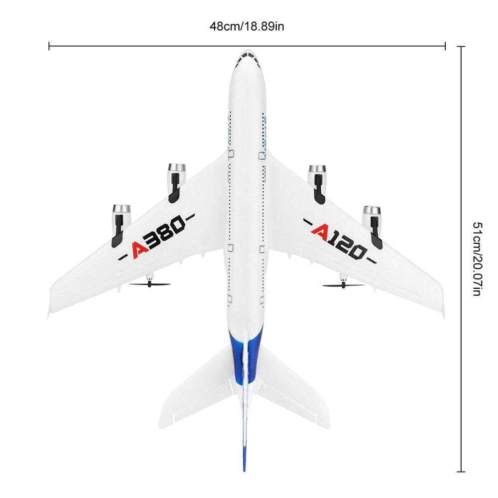 Image 5 - RC Air passenger aircraft A380 Airplane 2.4G 3CH Simulation EPP Fixed Wing Remote Control Aircraft Outdoor RC Plane Toys-in RC Airplanes from Toys & Hobbies