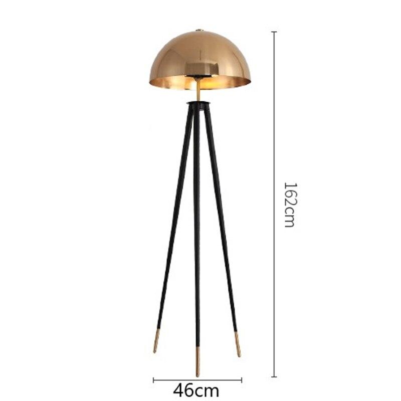 Дизайнерская Напольная Лампа с металлическим гальваническим покрытием с грибовидной головкой для дома, стоячие лампы для гостиной, спальни, прикроватная лампа, стоящая - Цвет абажура: Floor lamps