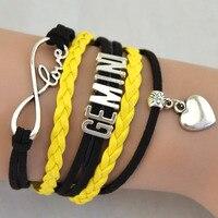 Wholesale Friendship Bracelets And Bangle Silver Heart Virgo Constellations Woman Bracelet Jewelri