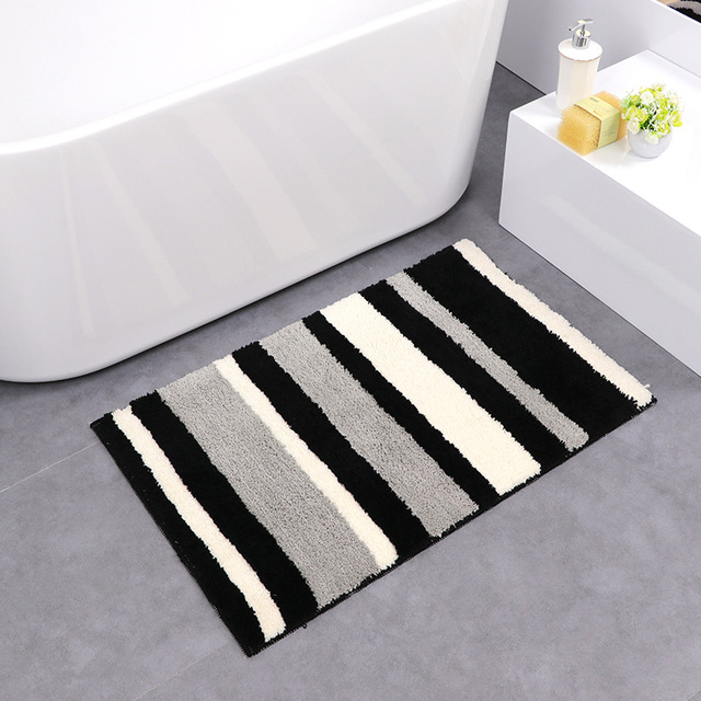 640b2eb2b7f6 Classical Striped Bathroom Mat Kit Toilet Rugs Non-slip Bath Mats Floor  Carpets Mattress for Bathroom Decor Step Foot Pad UDB09