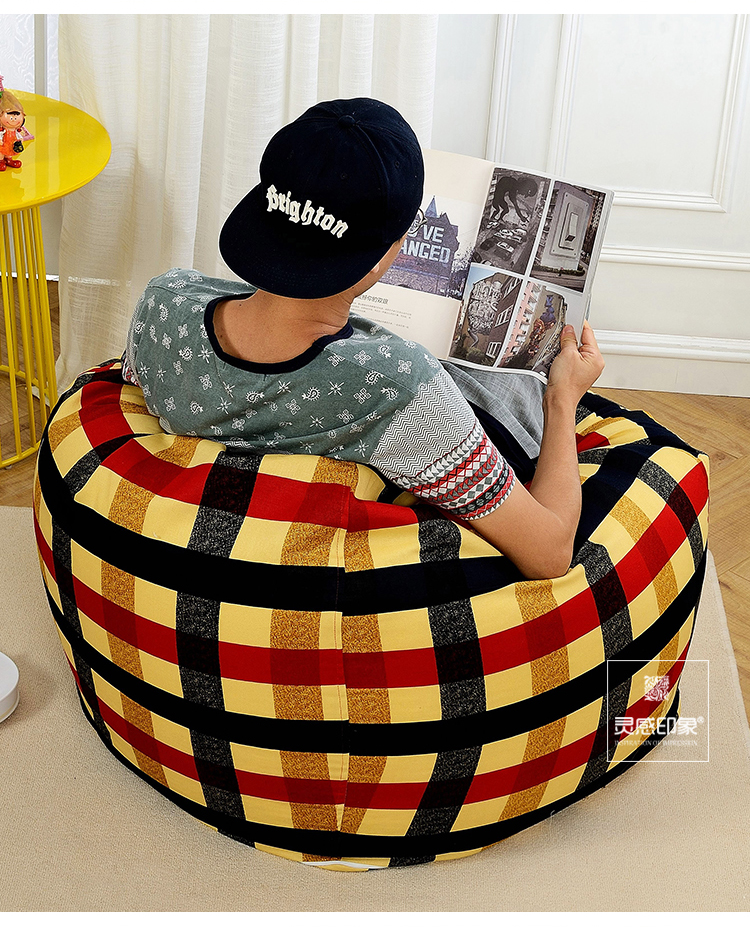 2016 Cadeiras Sedie Sillones Modern Fabric Bean Bag Chair Garden Camping Beanbag Cover The Sofa Is A Lazy Person levmoon beanbag sofa chair yellow people seat zac comfort bean bag bed cover without filler cotton indoor beanbag lounge chair