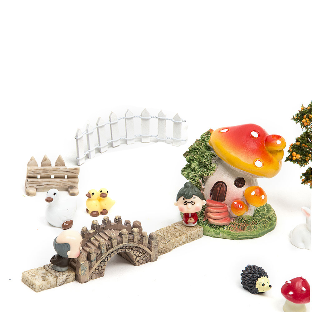 18pcs / set Μικρό τοπίο σπίτι Bonsai DIY κούκλα - Διακόσμηση σπιτιού - Φωτογραφία 3