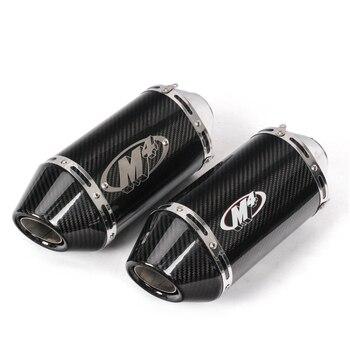 Silenciador de carbono para motocicleta yoshimura exhuast, tubo de escape de 51MM para moto de 250cc 500cc 600cc 750cc 800cc MT09/07 M4 Z750/800 R6