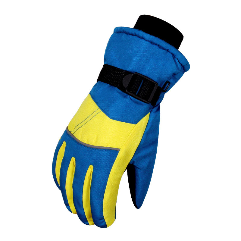 Winter Young Boys and Girls and Skiing Gloves Snowboard Ski Gloves Winter Bike Thick Motorcycle Cycling Anti -30 Degree Warm