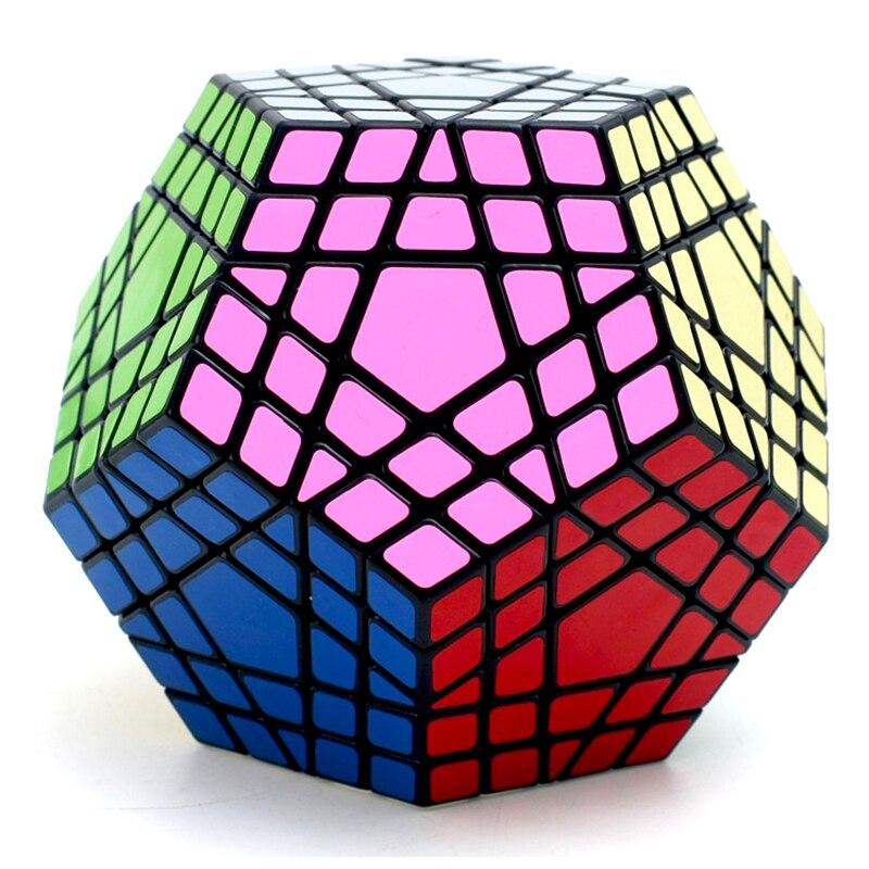 Shengshou 5x5x5 Cube magique Cube Megaminx Gigaminx 5x5 professionnel Dodecahedron Cube Twist Puzzle apprentissage jouets éducatifs