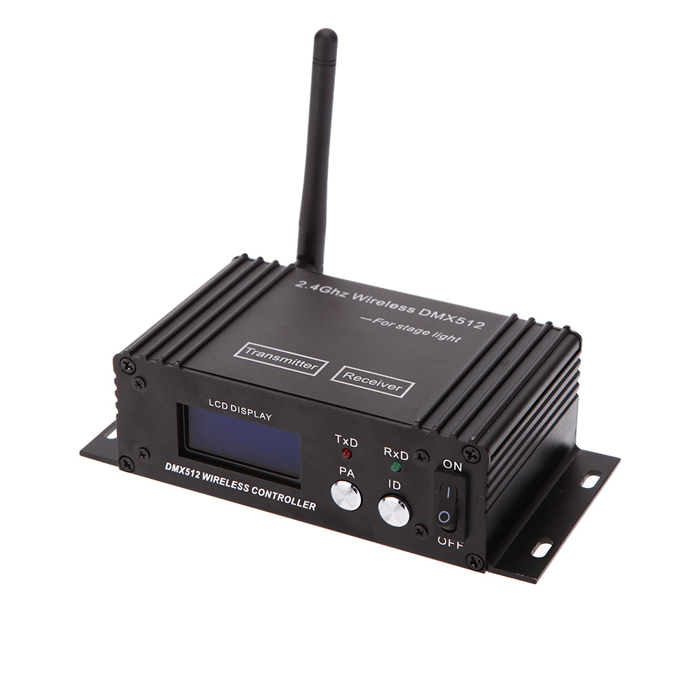 2 4G Ism 126 Channels 400M Range Dmx512 Wireless Receiver Transmitter 2in1 LCD Display Repeater DMX512