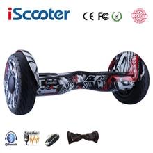 Nueva iScooter hoverboard 10 pulgadas smart auto equilibrio scooter eléctrico de dos ruedas patineta con altavoces Bluetooth giroskuter