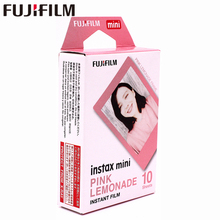 Original Fujifilm 10 sheets Instax Mini PINK Frame Instant Film photo paper for Instax Mini 8 7s 25 50s 90 9 SP-1 SP-2 Camera original fujifilm 10 sheets instax mini candy pop instant film photo paper for instax mini 8 7s 25 50s 90 9 sp 1 sp 2 camera